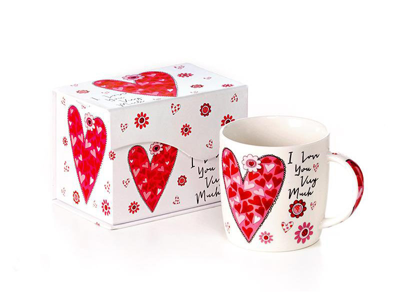 Tazza Mug 300cl porcellana Cuori Valentine in GiftBox